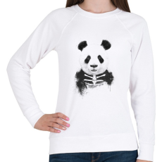 PRINTFASHION Zombie panda - Női pulóver - Fehér