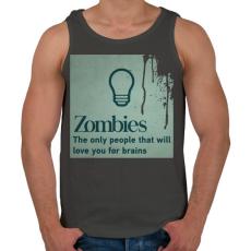 PRINTFASHION Zombies - Férfi atléta - Sötétszürke