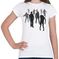 PRINTFASHION Zombik - Női póló - Fehér