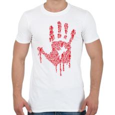 PRINTFASHION Zombikéz - Férfi póló - Fehér