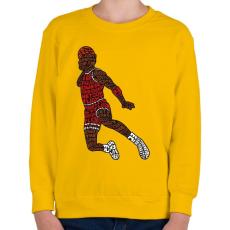 PRINTFASHION Zsákolás - Gyerek pulóver - Sárga