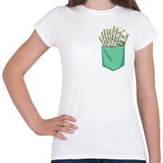 PRINTFASHION ZSEB-Dollár - Női póló - Fehér