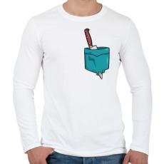 PRINTFASHION ZSEB-Kés - Férfi hosszú ujjú póló - Fehér