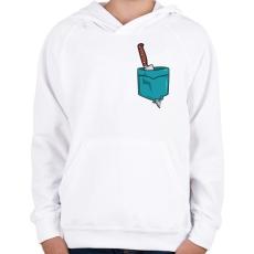 PRINTFASHION ZSEB-Kés - Gyerek kapucnis pulóver - Fehér