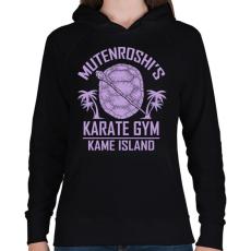 PRINTFASHION Zseniális teknős karate suli - Női kapucnis pulóver - Fekete