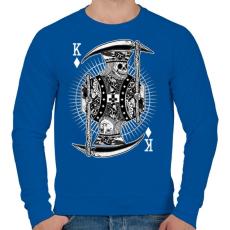 PRINTFASHION Zsugakirály - Férfi pulóver - Királykék