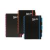 """Pukka pad Spirálfüzet, A4, vonalas, 100 lap, PUKKA PAD, """"Neon black project book"""""""