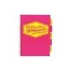 Pukka pad Spirálfüzet, A4, vonalas, 100 lap, PUKKA PAD Neon project book, rózsaszín