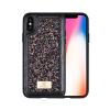 Puloka Glitter prémium hátlaptok Apple iPhone X, fekete