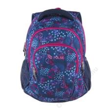 Pulse Hátizsák, PULSE Teens Blue Hearts, kék-rózsaszín (PLS121443L) gyerek hátizsák, táska