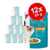 Purina One Adult 12 x 85 g - Indoor Formula tonhal & zöldbab