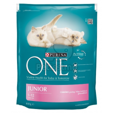 Purina ONE Junior Chicken 0,8 kg macskaeledel