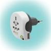 """q2power 1.100210 utazóadapter """"World to Switzerland USB"""""""