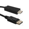 Qoltec Cable DisplayPort v1.2 / HDMI ; 4Kx2K ; 1m