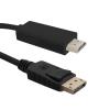Qoltec Cable DisplayPort v1.2 / HDMI   4Kx2K   3m