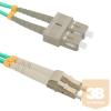 Qoltec Optic Patchcord LC/UPC - SC/UPC | Multimode | 50/125 | OM4 | Duplex | 3m