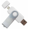 Quazar 2in1 smart pendrive 16GB (fehér) QZR-PE01-16-W