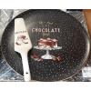 R2S Chocolate porcelán tortatál 32 cm+lapát (pöttyös), 153285