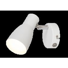 RÁBALUX Rábalux 6025 Ebony, fehér szpot lámpa kapcsolóval és fém burával E27 MAX 20W fehér világítás