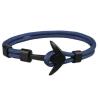 Ragyogj.hu Anchorissime - horgony karkötő - dupla szálú sötétkék kötél - fekete horog
