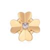 Ragyogj.hu Arany lóhere- bross - Swarovski kristályos