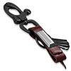 Ragyogj.hu Bőrrel kombinált kulcstartó - barna-fekete