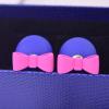 Ragyogj.hu Dupla fülbevaló masnival - kék-rózsaszín
