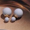 Ragyogj.hu Dupla gyöngy fülbevaló - ezüstszürke