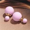 Ragyogj.hu Dupla gyöngy fülbevaló - világosrózsaszín
