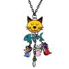 Ragyogj.hu Elégedett macska - nyaklánc - színes