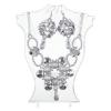 Ragyogj.hu 'Frazzles' CANDY gyöngyfűzött ékszerszett - ezüst alapszínnel - ezüst