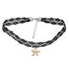 Ragyogj.hu Gótikus csipkés nyaklánc- csillag alakú Swarovski kristállyal- pezsgő