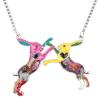 Ragyogj.hu Játszó nyuszik - nyaklánc - színes