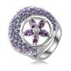 "Ragyogj.hu ""Lila virág"" -  divatgyűrű"
