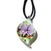 Ragyogj.hu Muránói üveg medál, csepp alakú - rózsaszín