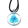 Ragyogj.hu Muránói üveg medál, lóhere motívummal -világoskék