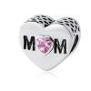 Ragyogj.hu Pandor@ Style ezüstözött szív medál-Mom