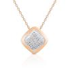 Ragyogj.hu Rózsaarany négyszög - valódi gyémánttal ékesített nyakék