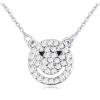 Ragyogj.hu Smiling bear- Swarovski kristályos nyaklánc- fehér