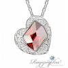 Ragyogj.hu - Swarovski Coeur- piros- Swarovski kristályos nyaklánc