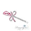 Ragyogj.hu - Swarovski Hermioné hajcsat - rózsaszín - Swarovski kristályos