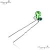 Ragyogj.hu - Swarovski Lepke hajtű - zöld - Swarovski kristályos