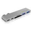 RaidSonic IB-DK4036-2C Dual USB Type-C notebook DockingStation