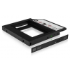 RaidSonic Icy Box Adapter for 2.5\'\' HDD/SSD Notebook extension (9.5 mm dvd slot)  Black