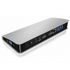 RaidSonic IcyBox Docking Station with Power Delivery USB Type-C; HDMI; DP; SD reader