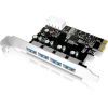 RaidSonic IcyBox USB 3.0 PCI-E Expansion Card with 4x USB 3.0 port