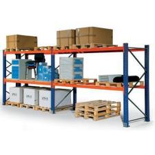 Raklaptároló polcállvány, hozzáépíthető, 210,6 x 270 x 75 cm, 4y000 kg, 3 szint, kék kerti tárolás