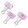 """RAPESCO Bindercsipesz, 19 mm, """"Emoji"""", RAPESCO, rózsaszín"""