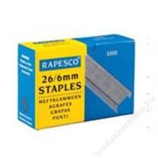 RAPESCO Tűzőkapocs, 26/6, RAPESCO (IRS11661Z3) gemkapocs, tűzőkapocs