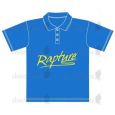 Rapture galléros póló XL azúrkék